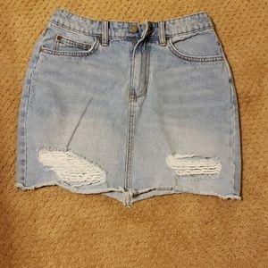 Billabong distressed jean skirt